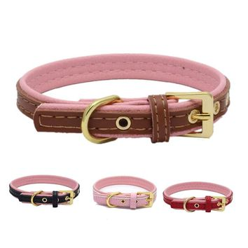 Top Quality Adjustable Harness Spiked Studded Genuine Leather Dog Collar Rivet Collar Round Nail Dog Chain Dog Supplies