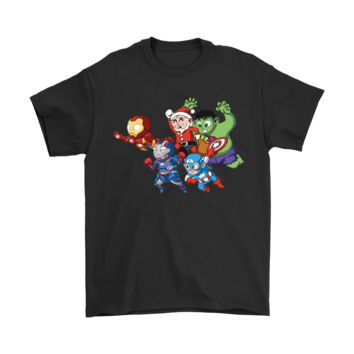 QIYIF Cute The Avengers And Santa Claus Shirts