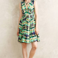 NWT ANTHROPOLOGIE by TRACY REESE AVEN PRINT JERSEY FIT & FLARE GREEN DRESS