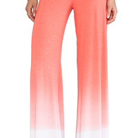 Saint Grace Wide Leg Sunset Jersey Pant in Red