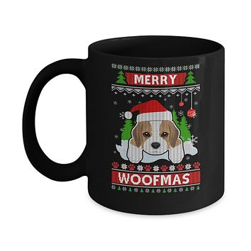 Beagle Merry Woofmas Ugly Christmas Sweater Mug