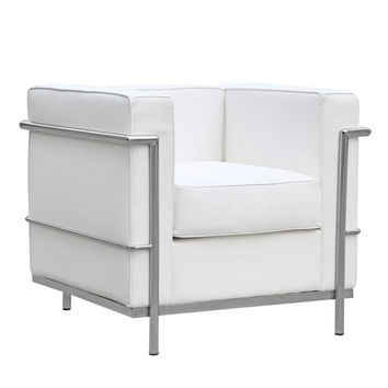 Modern Cube Lc2 Petit Chair, White