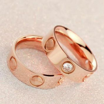 ONETOW Cute couple rings women ring