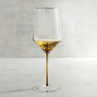 Entice Amber White Wine Glass