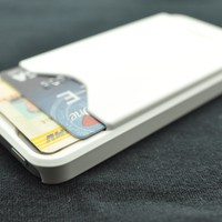 iPhone 5 White Credit Card Holder Rubberized Case Cover