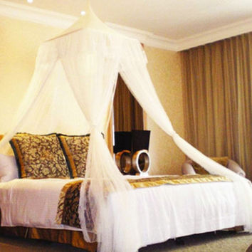 Bali Resort Style Bed Canopy Netting- Fits Queen & King