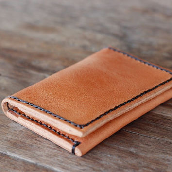 Leather Wallet - Honey Brown - 010 - JooJoobs URBANRUSTIC Collection