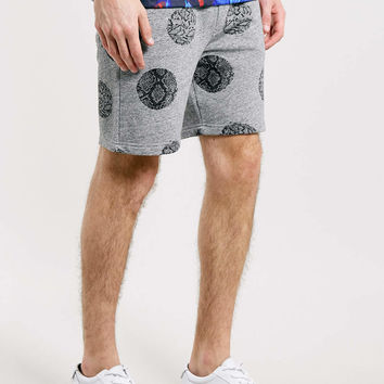 Antioch Snake Print Polka Dot Sweat Shorts* - Men's Shorts - Clothing - TOPMAN