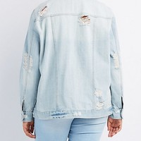Plus Size Refuge Destroyed Denim Jacket | Charlotte Russe
