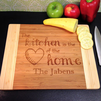 Personalized Cutting board Heart of The Home