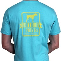 SPC Signature Logo Tee in Aqua by Southern Point Co.