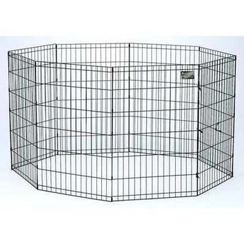 Black E-Coat Pet Exercise Pen 8 Panels