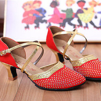 Women Dance Shoes Rhinestone Dancing Shoes Toe Morden Shoes Tango Dance Shoes