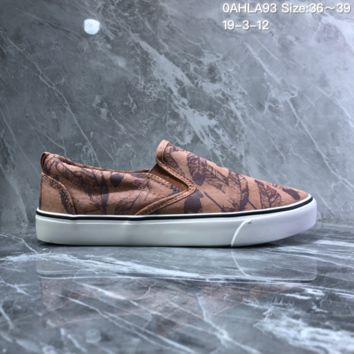HCX N917 Nike Toki Slip Print Fashion Baitie Leisure Foot Canvas Shoes brown