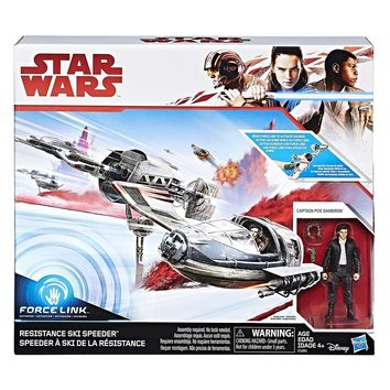 Resistance Ski Speeder & Poe Dameron Star Wars The Last Jedi Vehicle