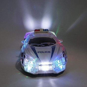 RC car cool lighting high speed remote control RC police car with 3D lights 1/18