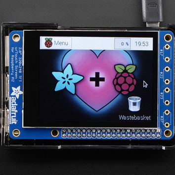 "PiTFT Plus 320x240 2.8"" TFT + Capacitive Touchscreen Mini Kit -Pi 3, Pi 2 and Model A+ / B+"