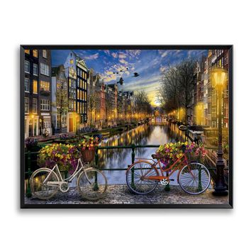 Cityscape Amsterdam Oil Painting By Numbers Kits Wall Art Picture Home Decor Acrylic Paint On Canvas For Artwork SZH-870