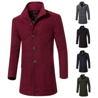Slim Fit Men's Fashion Wool Coat