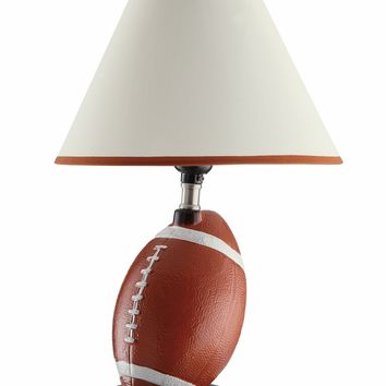 A.M.B. Furniture & Design :: Accessories :: Table Lamps :: Set of 2 Casual Style Football Table Lamps with White Fabric Shade