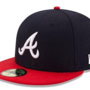 MLB Atlanta Braves New Era Home Authentic Collection On-Field 59FIFTY Fitted Hat