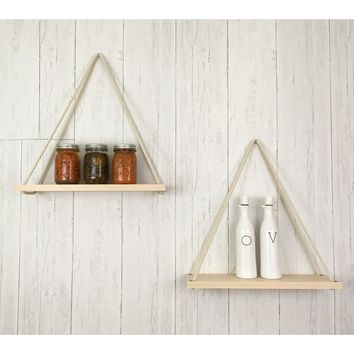 Solid Maple Hanging Shelf Set