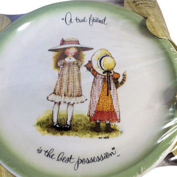 Holly Hobbie Collector Plate A True Friend Is the Best Possession 1972 Vintage Collector Plate Decorative Plate