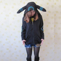 Pokemon cosplay hoodies Black Zipper Hoodies Jacket Coat Unisex Adult Pajamas = 1930049412