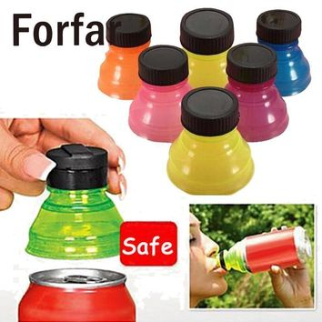 6Pcs Camping Reusable Bottle Beverage Can Caps Cover Lids Tops Snap On Coke Soda Drink Outdoor camping Tool