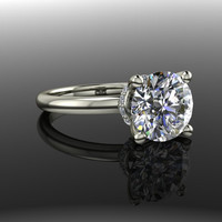 Forever Brilliant Moissanite and Diamond Engagement Ring 2.18 CTW