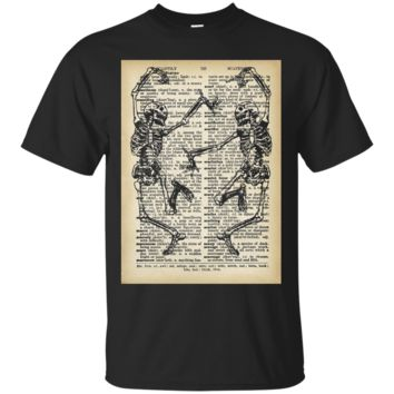 Dance of Death Macabre Skeleton Tshirt Skull Halloween 2017