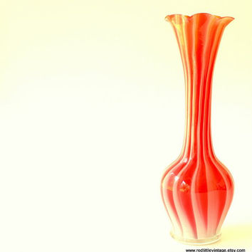 Shop Striped Glass Vases On Wanelo
