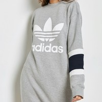 Adidas Originals Casual Grey Sweatshirt Dress