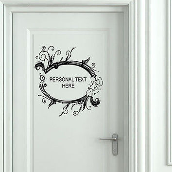 Wall Mural Vinyl Decal Sticker Sign Door Frame Personalized Text Name AL273