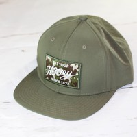 "HOOey OLIVE CAMO ""Rip Cord"" OSFA (snapback) 1632T-C NEW FOR 2017"