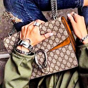 GUCCI Sell Fashion More Letter Leather Lady Dionysus Chain Single Shoulder Bag Women