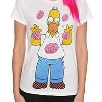 The Simpsons Homer Donuts Girls T-Shirt - 182447