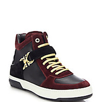 Salvatore Ferragamo - Nayon Leather High-Top Sneakers - Saks Fifth Avenue Mobile