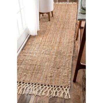 The Gray Barn Antelope Springs Chunky Jute and Wool Tassel Runner Rug (2'6 x 10') | Overstock.com Shopping - The Best Deals on Runner Rugs