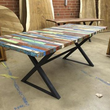 Reclaimed Bali Boat Dining Table
