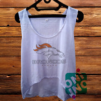 Denver Broncos crop tank Women's Cropped Tank Top