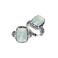 "AR-6137-RM-8"" Sterling Silver Ring With Rainbow Moonstone"