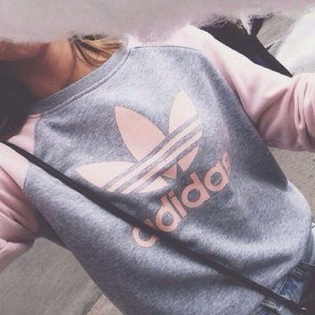 "shosouvenir : ""Adidas"" Pullover Tops Sweater Sweatshirts"