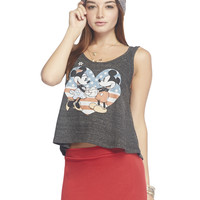 Mickey™ and Minnie™ Heart Flag Tank | Wet Seal
