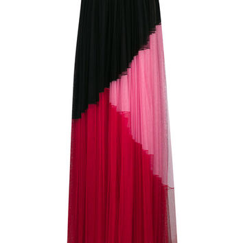 Fausto Puglisi Tulle Colourblock Maxi Skirt - Farfetch