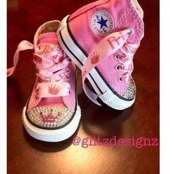 DCCK1IN baby swarovski crystal rhinestoned converse chuck taylor all stars