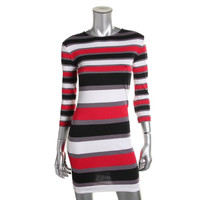 French Connection Womens Stretch Striped Casual Dress