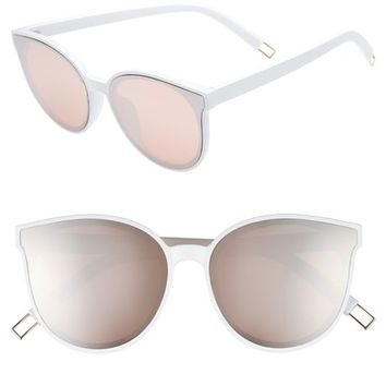 BP. 59mm Metal Tip Round Sunglasses | Nordstrom