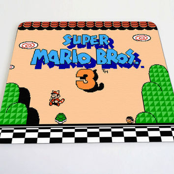 Super Mario Bros 3 mouse pad by DesignNoy on Etsy