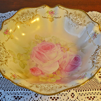 RS Germany Porcelain Bowl, Antique Serving Bowl